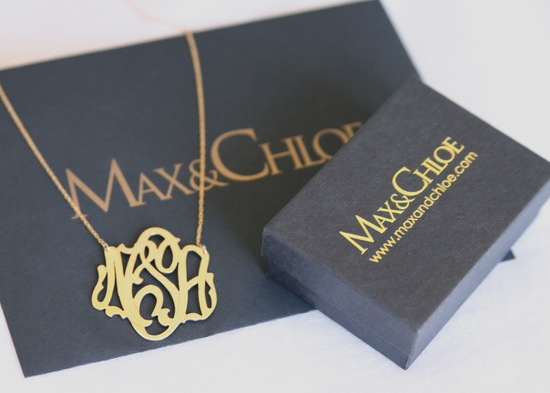 max and chloe monogram wedding necklace