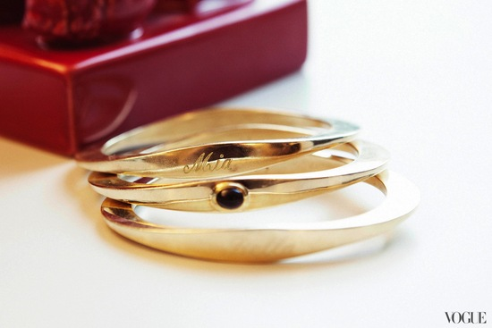 Gold Monogram Bridal Bangles