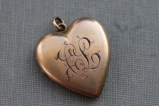 Heart Shaped Bridal Locket with Monogram