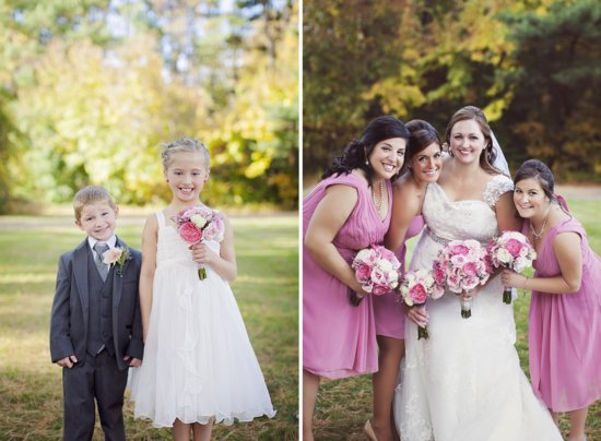 photo of Vintage Pink Wedding in Connecticut