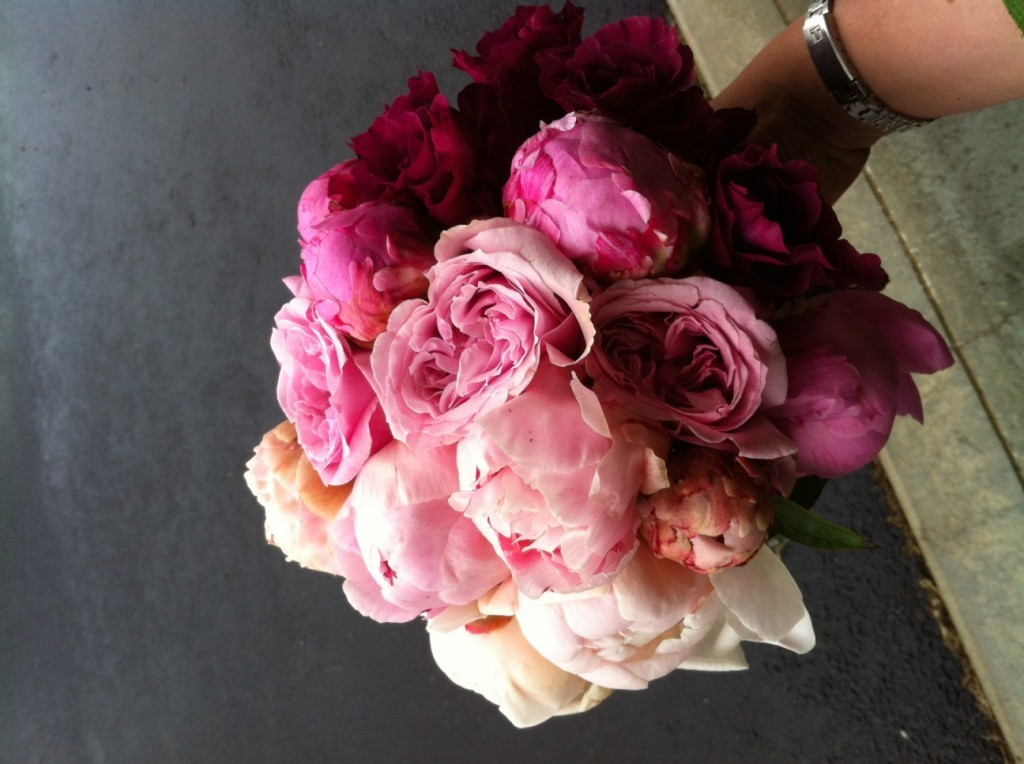 Pink Ombre Peony Bridal Bouquet