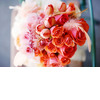 Coral-peach-ombre-bridal-bouquet-with-feathers.square