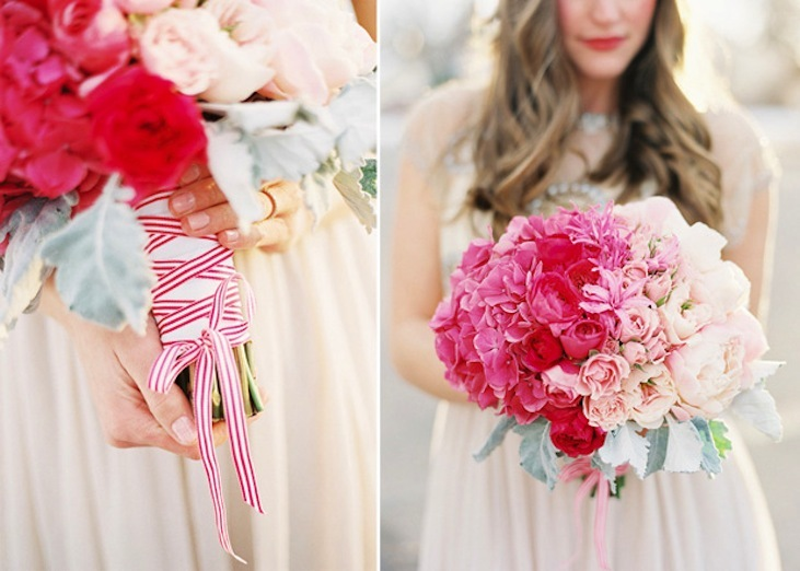 Romantic Ombre Bridal Bouquet Shades of Pink