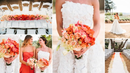 Peach Coral Ombre Wedding Inspiration