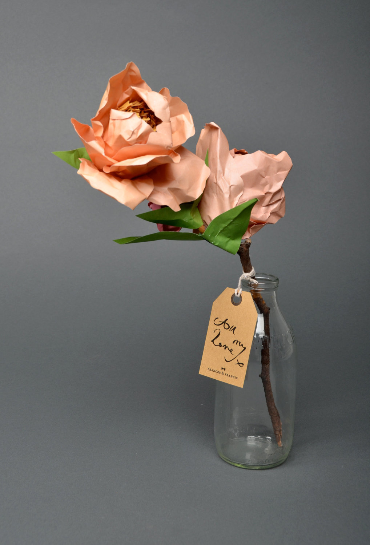 Peach-paper-flower-bridal-bouquet.full