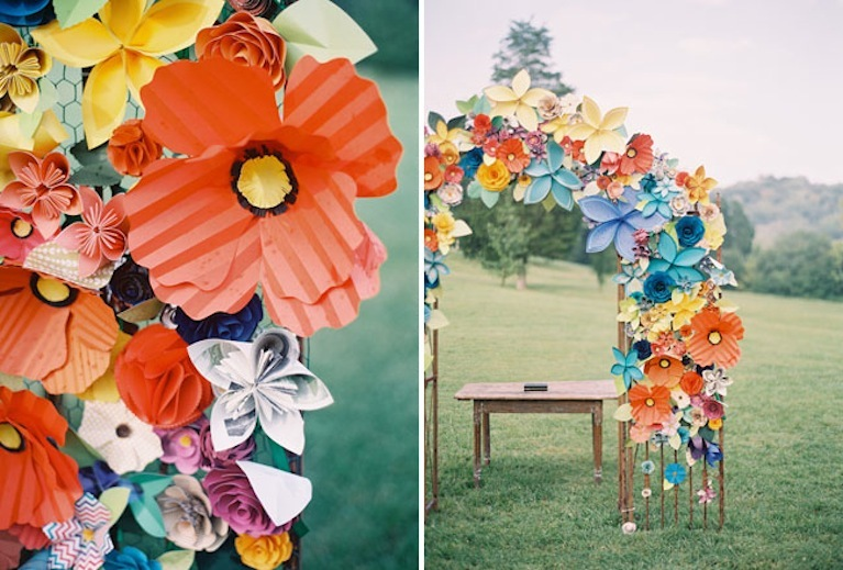 Paper Flowers Eco Wedding Inspiration