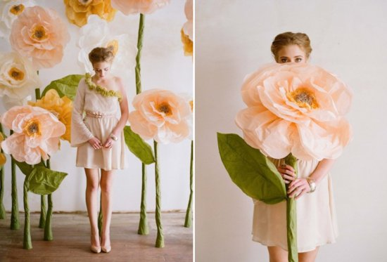 Paper Flowers Eco Wedding Inspiration 2