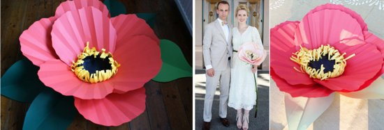 Pink Paper Flowers for Eco Weddings