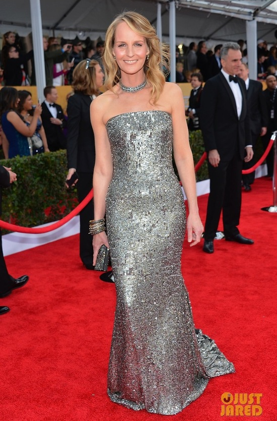SAG Awards 2013 Red Carpet Wedding Style Inspiration Helen Hunt