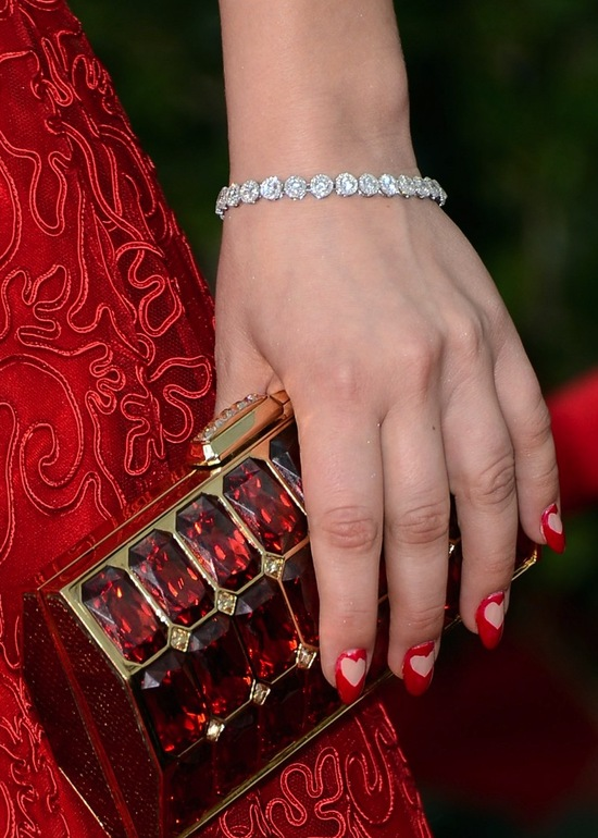 Heart Mani Red carpet to white aisle SAG Awards 2013