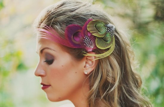 Feather Wedding Finds Great Gatsby Vintage Theme Colorful Fascinator