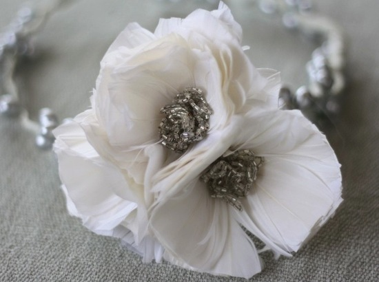 White Feather Poppy Wedding Flower DIY