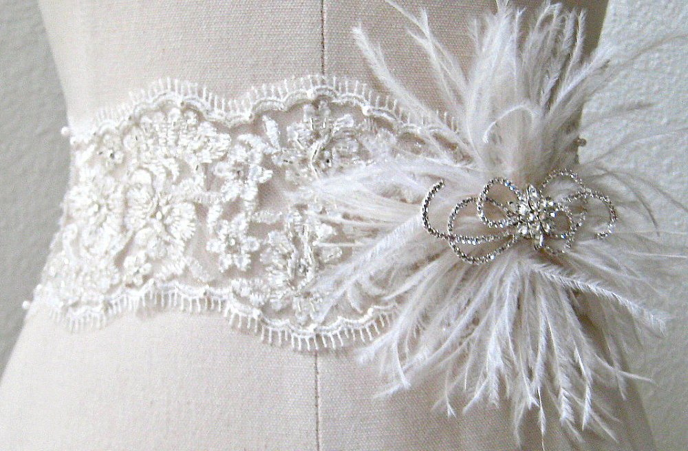 Feather-and-lace-bridal-sash.full