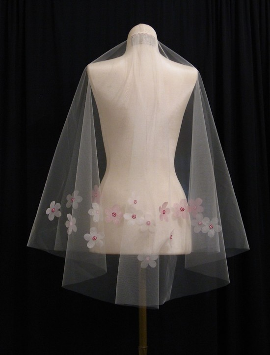 Cherry Blossom Wedding Veil