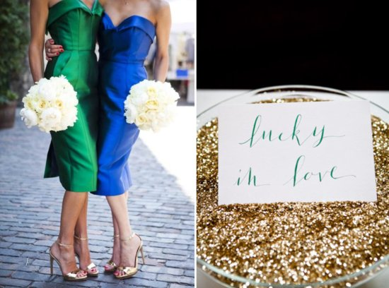 Emerald Gold Wedding Color Ideas Reception Decor 2