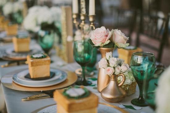 photo of An Elegant Wedding Color Palette: Emerald Green & Gold