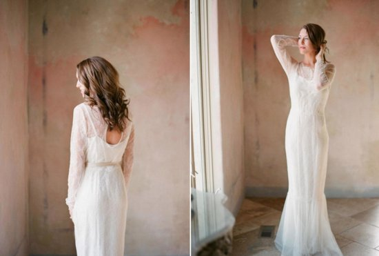 Romantic Lace and Chiffon Wedding Dress 2