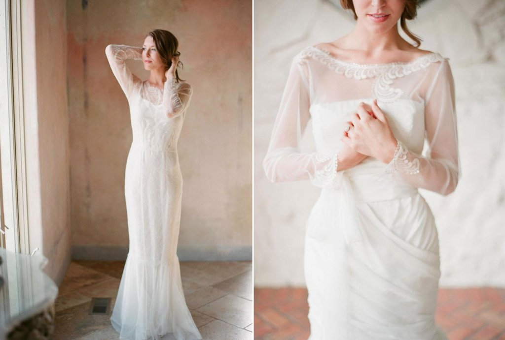 Romantic-mermaid-wedding-gown-with-sheer-sleeves.full