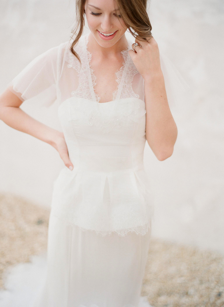 Classic Ivory Wedding Gown with Embellished Bolero