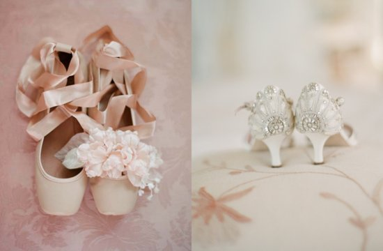 Romantic Wedding Shoes Low Heels