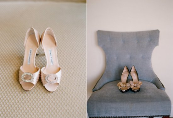 neutral wedding shoes elegant