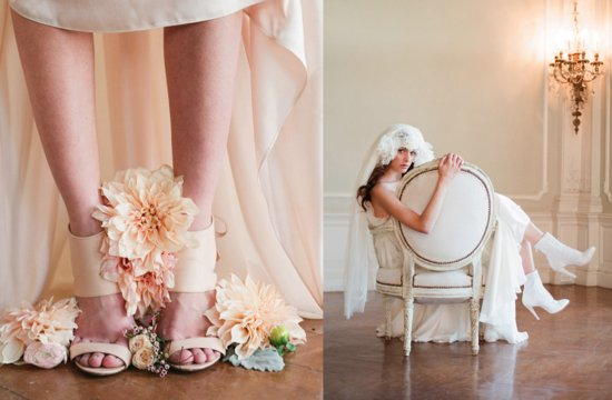 Romantic Wedding Shoes Low Heels and Booties