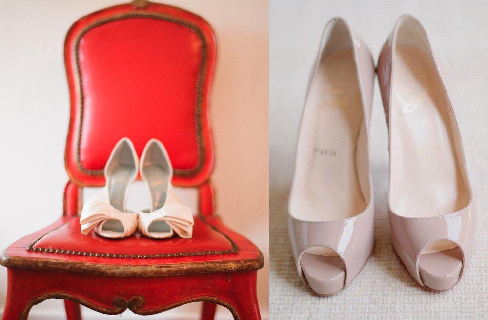 Louboutin Nude Wedding Shoes