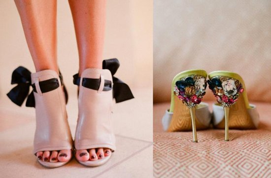 wEDDING SHOES BY ELIZABETH MESSINA