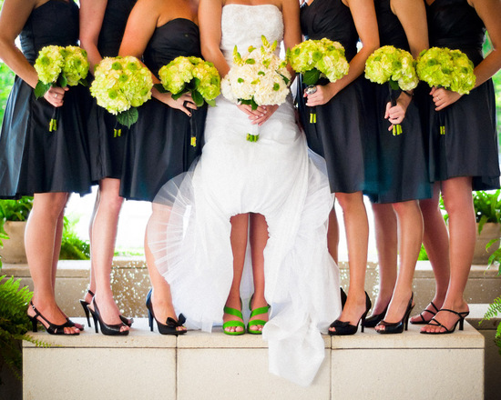 Wedding shoes and bridesmaid dresses