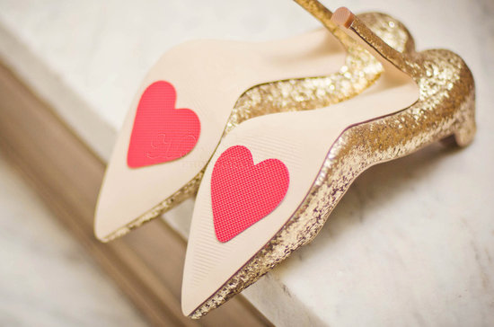 Red Heart Stamps for Bottom of Wedding Shoes