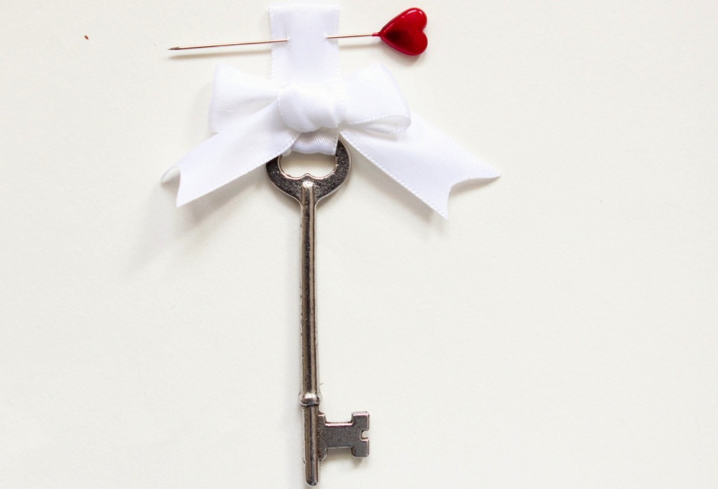 Unique Groom Boutonniere Key to my heart
