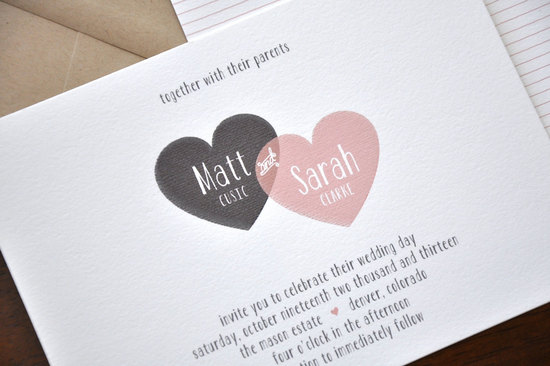 Modern Heart Wedding Invitation