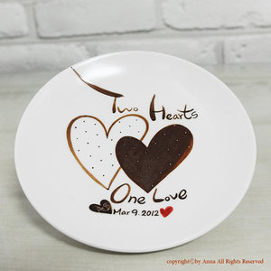 photo of Personalized Message Dish by Anna Ceramic Studio, $25.