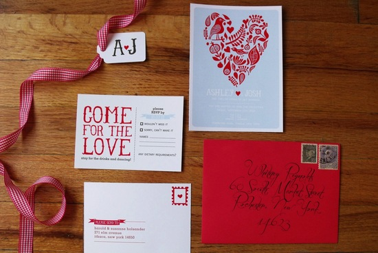 Bright Heart Wedding Invitation Suite
