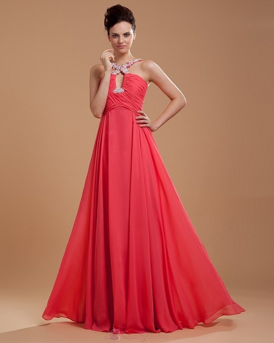 Chiffon-Beading-Spaghetti-Straps-Brush-Train-Evening-Dress-P3216