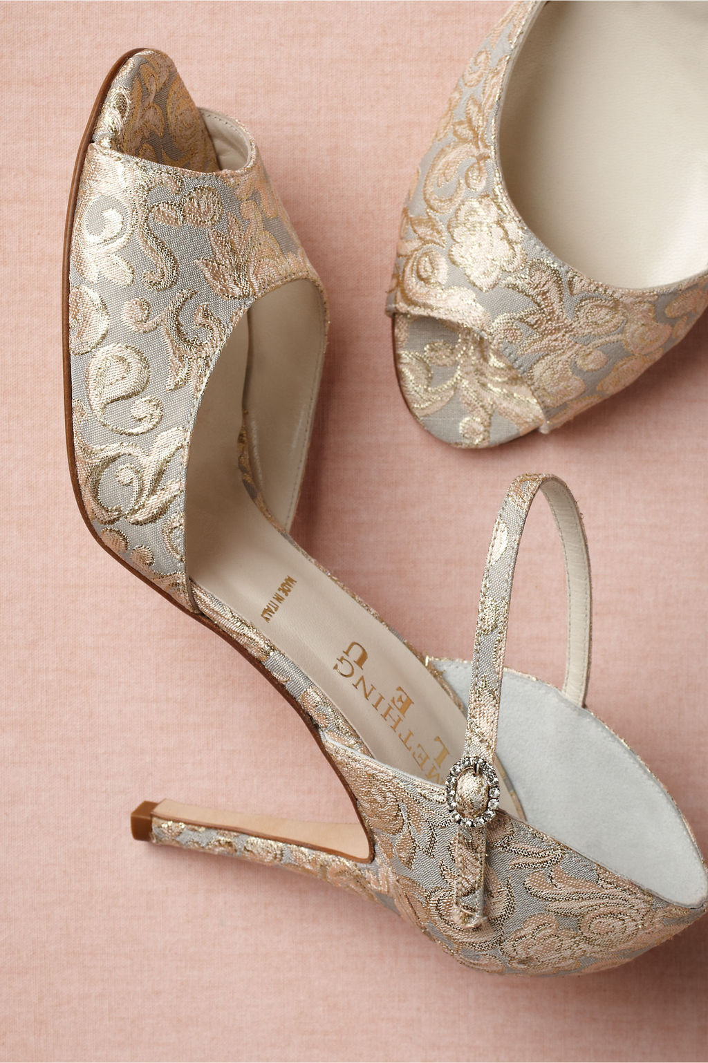 Retro Wedding Shoes from BHLDN elegant embroidered