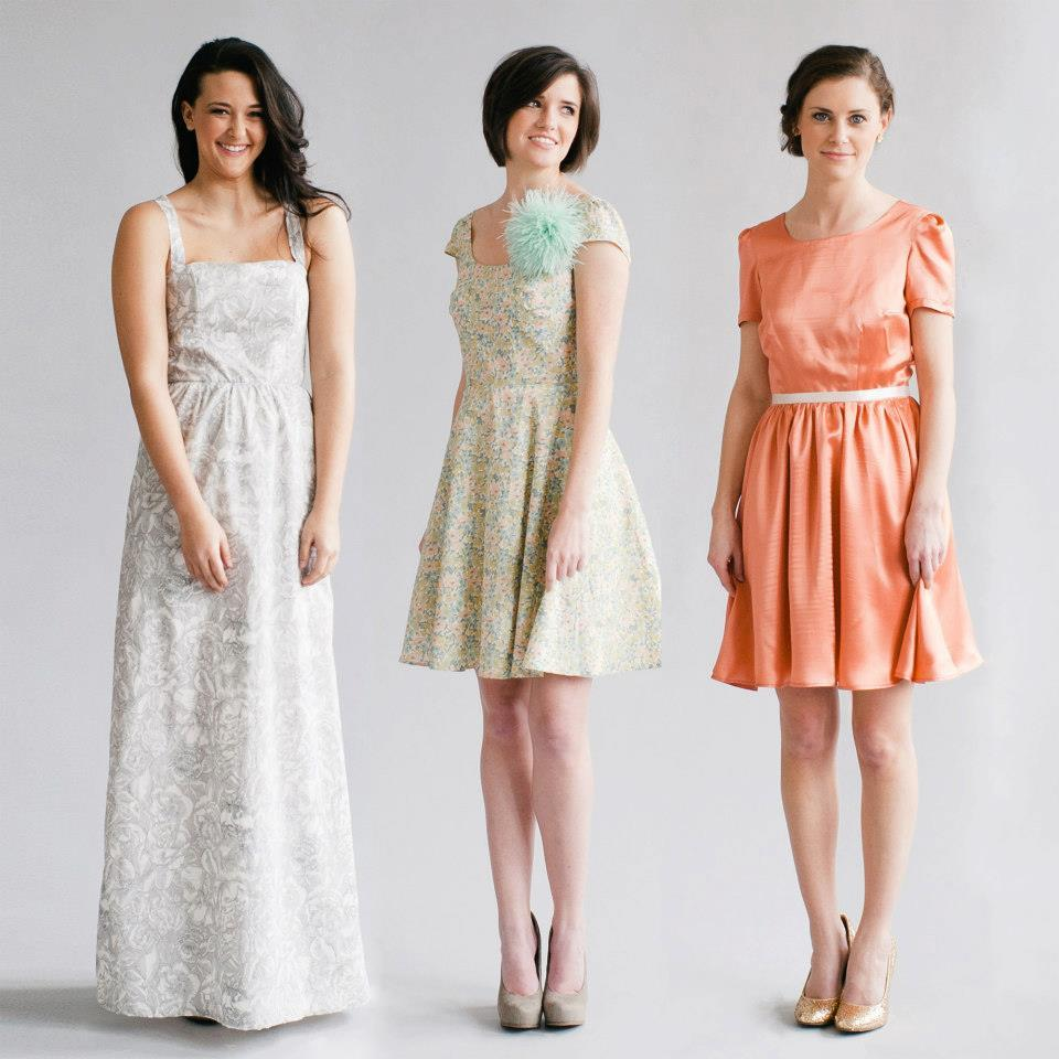 Simple Classic Bridesmaid Dresses by Whitney Deal 5