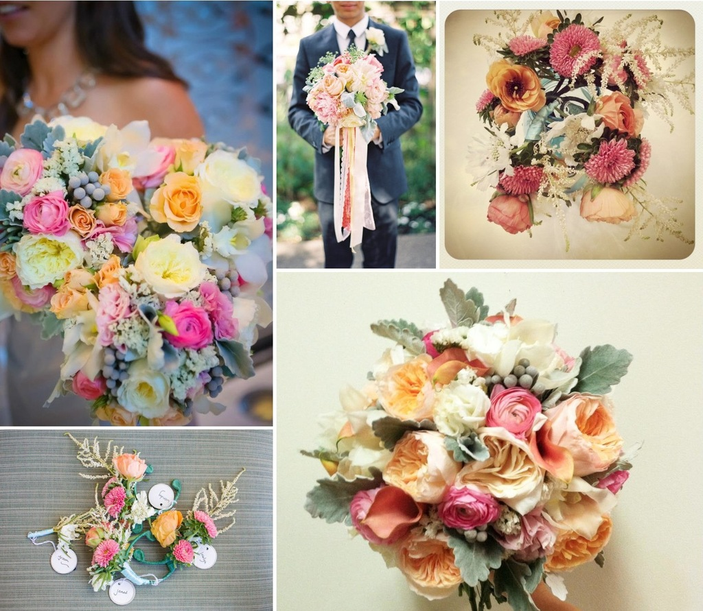 Pretty Wedding Color Palette Garden Pastels