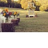 Rustic-outdoor-wedding-ceremony-wood-stump-aisle-runners.square