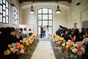 photo of 10 Creative Ways to Line the Wedding Ceremony Aisle
