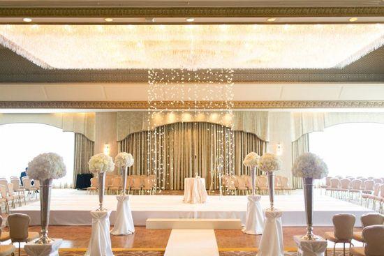 photo of Elegant Wedding at the Ritz Carlton Chicago All White Wedding Flowers