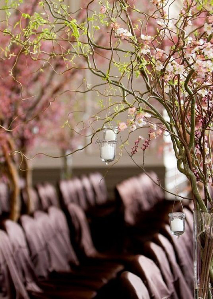 Cherry-blossom-branches-lining-wedding-ceremony-aisle.full