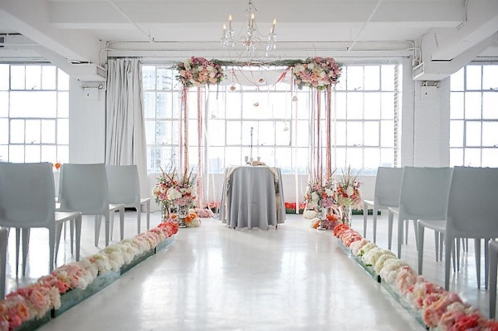 Unique Wedding Ceremony Aisle Purple Ivory Outdoor Weddings