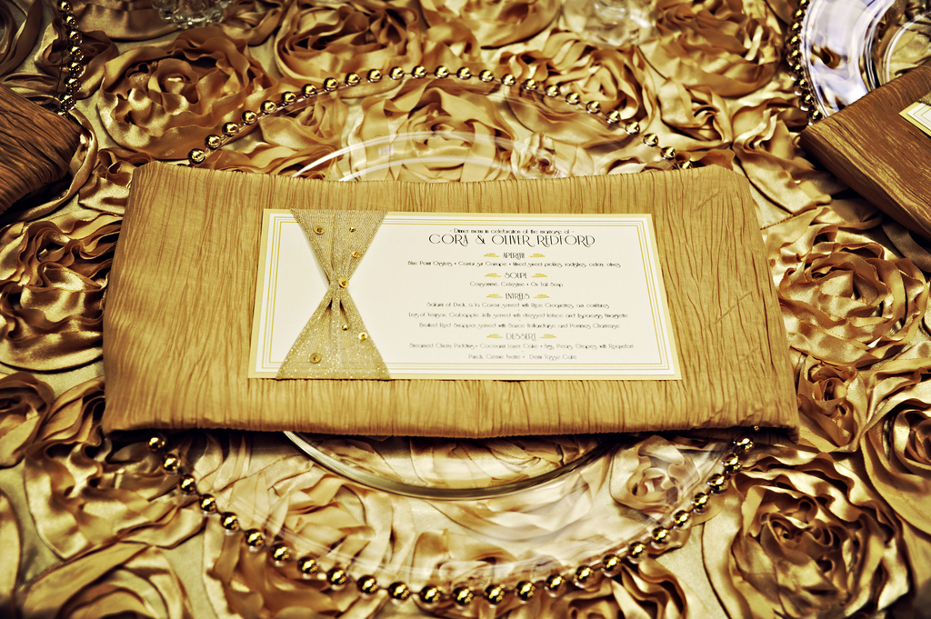 Vintage-gold-old-hollywood-wedding-reception-menu.full
