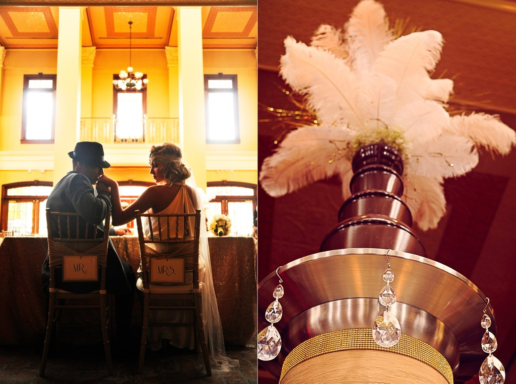 Great-gatsby-themed-wedding-reception-feathers-and-gold.full