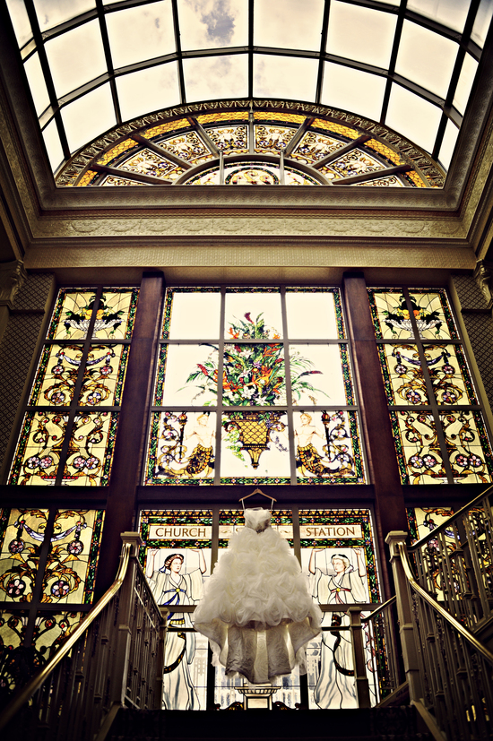 Frothy Ballgown Wedding Dress Captured in Venue
