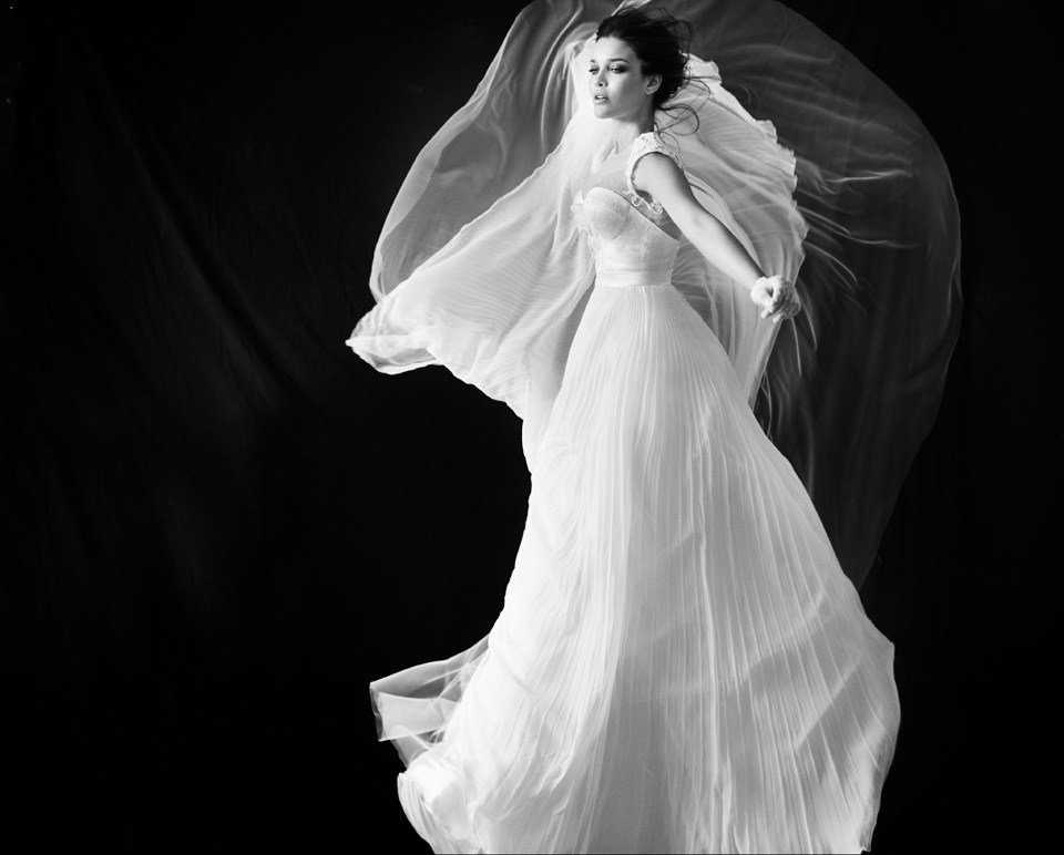 A-line-wedding-dress-with-illusion-neckline-pleated-skirt.full
