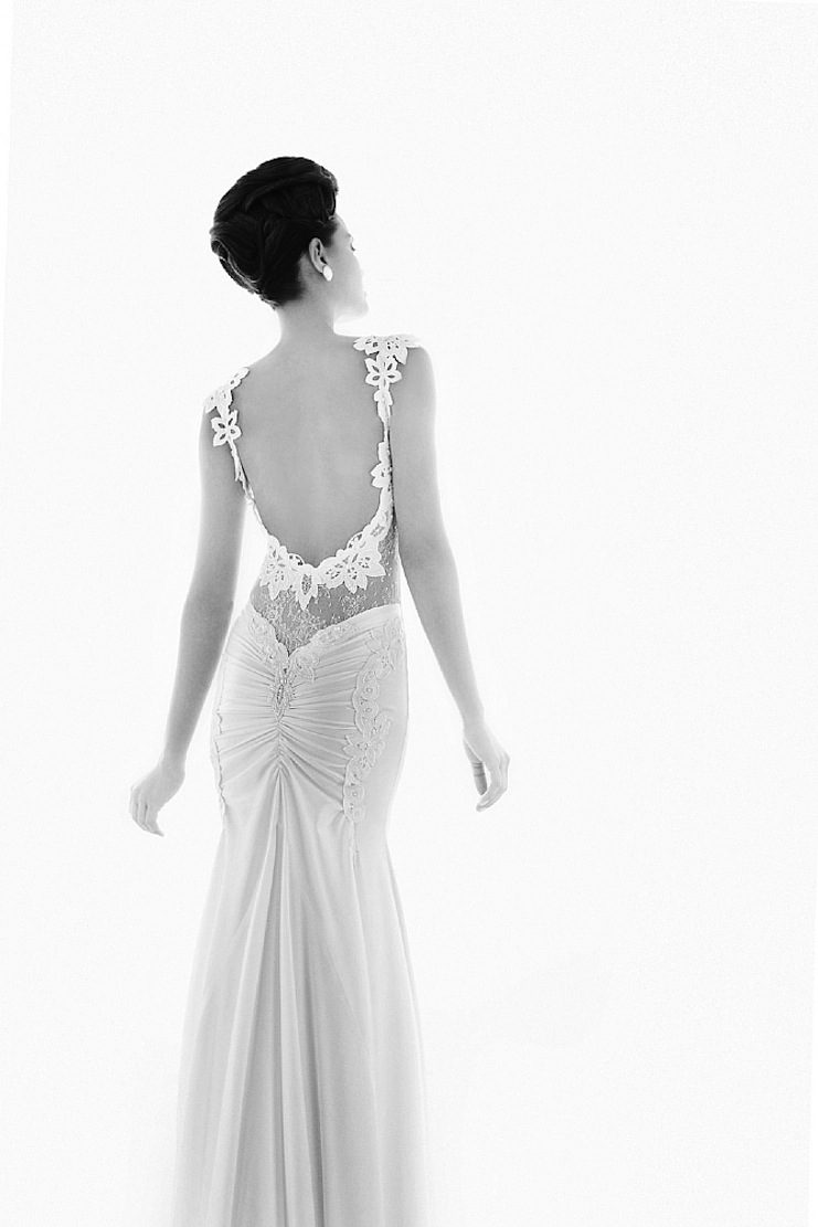 Romantic Bridal Gown With Sheer Lace Embellished Sleeves