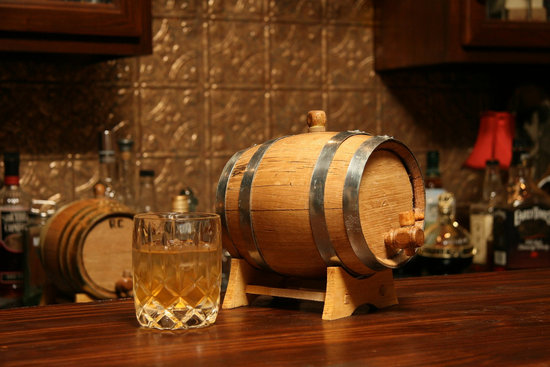 photo of Engraved Mini Whiskey Barrel, $70 via Etsy