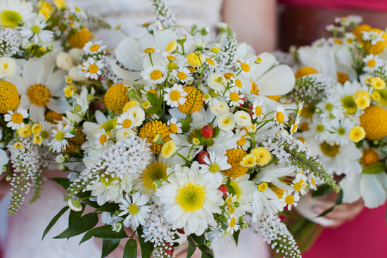 Unique Bridal Bouquet Yellow White Green